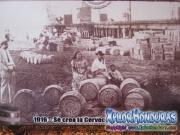 Cerveceria hondureña 1916 con barriles de Salva Vida