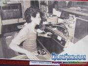 Locutor y operador Victor Mendoza de Radio El Patio, La Ceiba