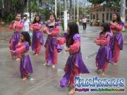 Bailarinas jovenes del jardin y escuela Rey de Reyes en plaza central de La Ceiba