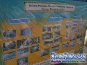 Mural del ayer y hoy de la escuela Francisco Morazan