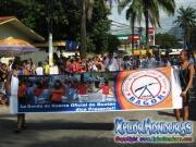 Banda de Guera oficial de Roatan - Desfile de Carrozas 3 La Ceiba 2014