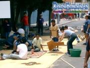 Elaboracion Alfombras Semana Santa Tegucigalpa