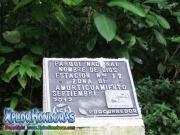 parque nacional pico bonito, rio cangrejal, rotulo parque nacional nombre de dios