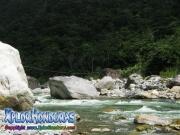 parque nacional pico bonito, rio cangrejal, lindo paisaje del rio cangrejal
