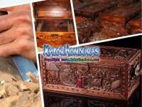 Baules tallados en Madera Honduras