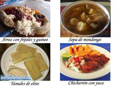 Comida Tipica de Francisco Morazan Honduras