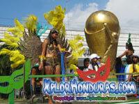 Desfile de carrozas Carnaval de La Ceiba 2014 Parte 2