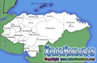 Mapa Division Politica de Honduras