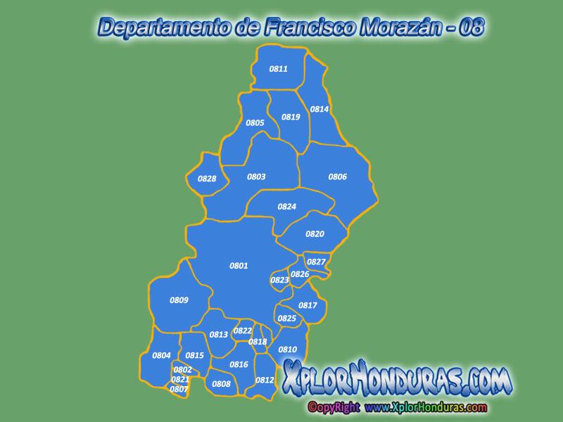 Departamentos y Municipios de Honduras | Honduras C.A. ...