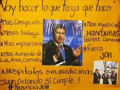 Presidente de Honduras Juan Orlando Hernandez