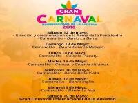 Programacion Carnaval de La Ceiba 2018