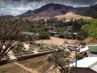 San Andres Minas Copan Honduras, al fondo la Mina