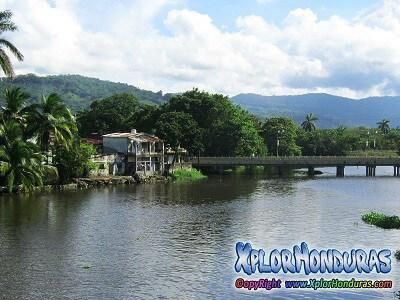 Tela Atlantida Honduras Rio Lancetilla y Puente Viejo